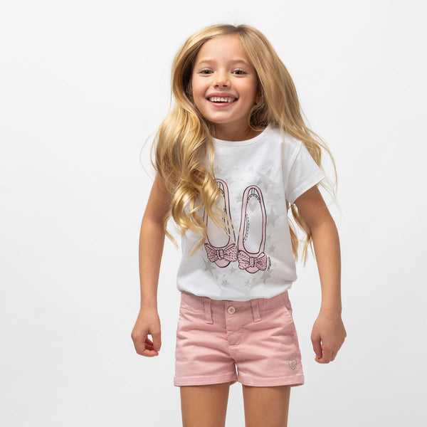 "Girl's ""Ballerinas"" Pink T-shirt"