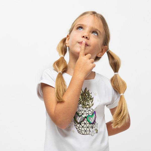 "Girl's ""Pineapple"" Glow in the Dark T-Shirt"
