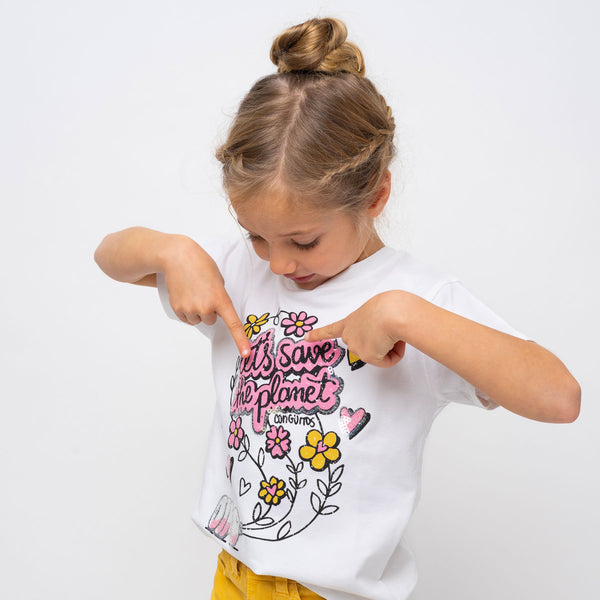 "Girl's ""Save the Planet"" T-Shirt"