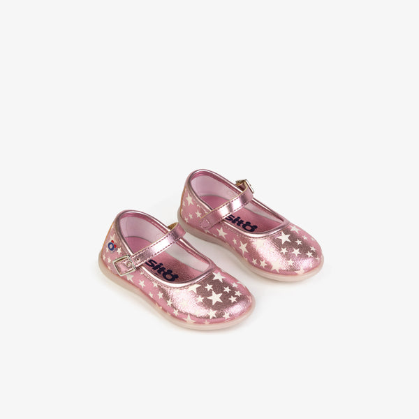 Baby's Pink Stars Mary Janes