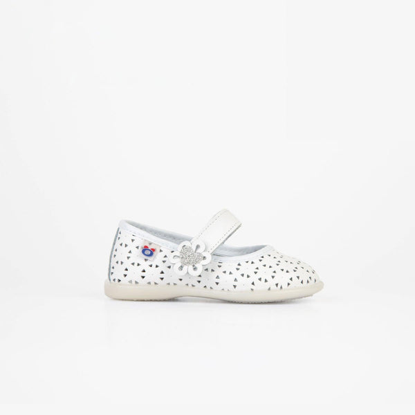 Baby White Heart Washable Leather Mary Janes