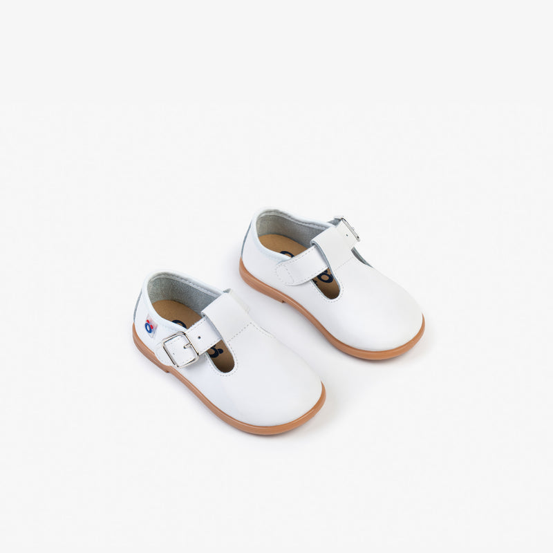 Baby's White Washable Leather Shoes