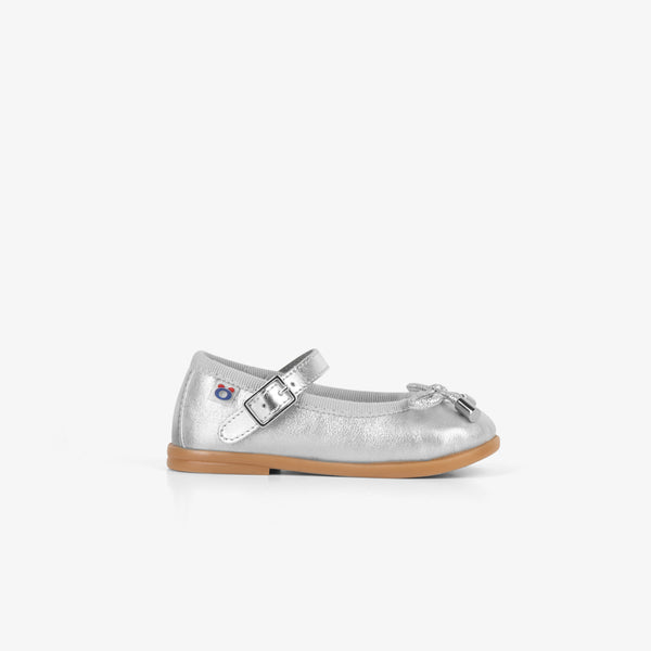 Baby's Metallic Silver Mary Janes