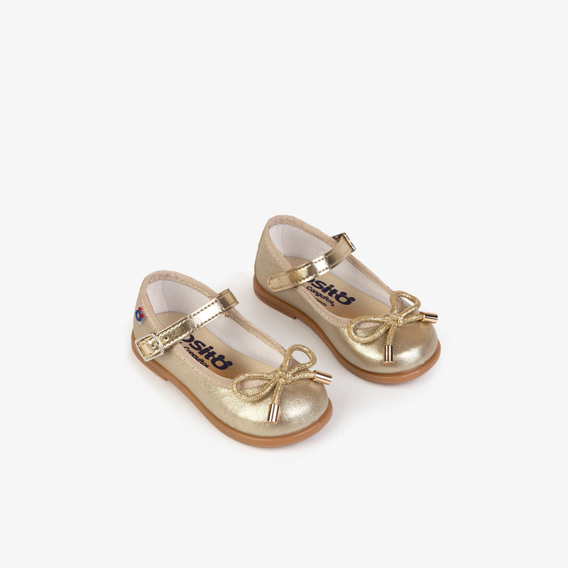 Baby's Metallic Platinum Mary Janes