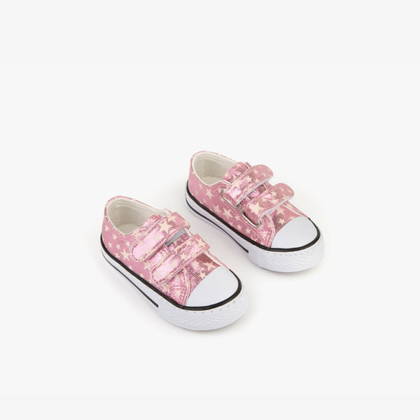 Baby's Pink Stars Sneakers