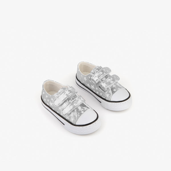 Baby's Silver Stars Sneakers