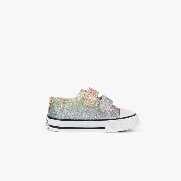 Baby's Multicolor Glitter Sneakers