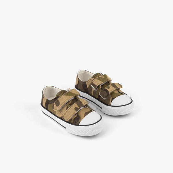 Baby's Camouflage Canvas Sneakers