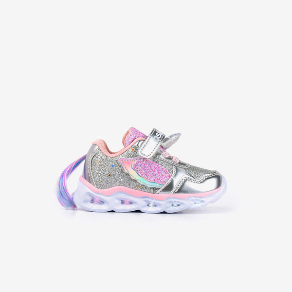 Baby's Unicorn Sneakers with Lights