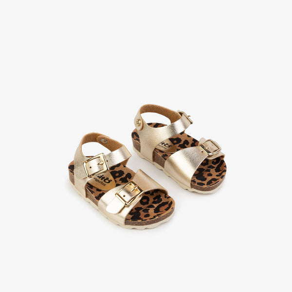 Baby's Platinum Metallized Bio Sandals