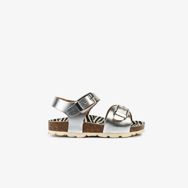 Baby's Silver Metallized Bio Sandals