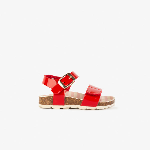 Baby's Red Patent Leather Bio Sandals
