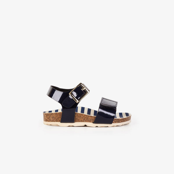 Baby's Blue Patent Leather Bio Sandals