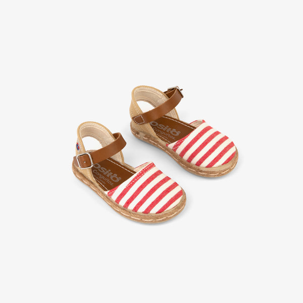Baby's Red Stripes Espadrilles