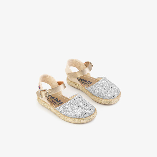 Baby's Silver Glitter Espadrilles