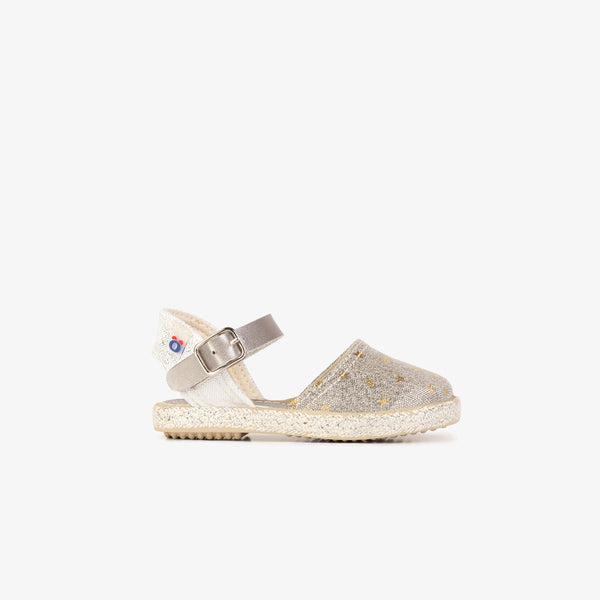 Baby's Silver Stars Espadrilles