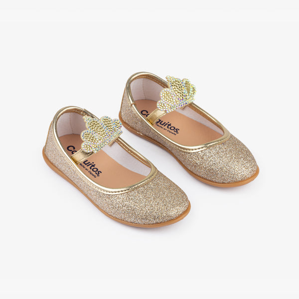 Girl's Platinum Crown Ballerinas