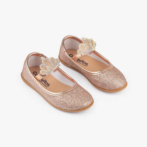 Girl's Magnesium Crown Ballerinas