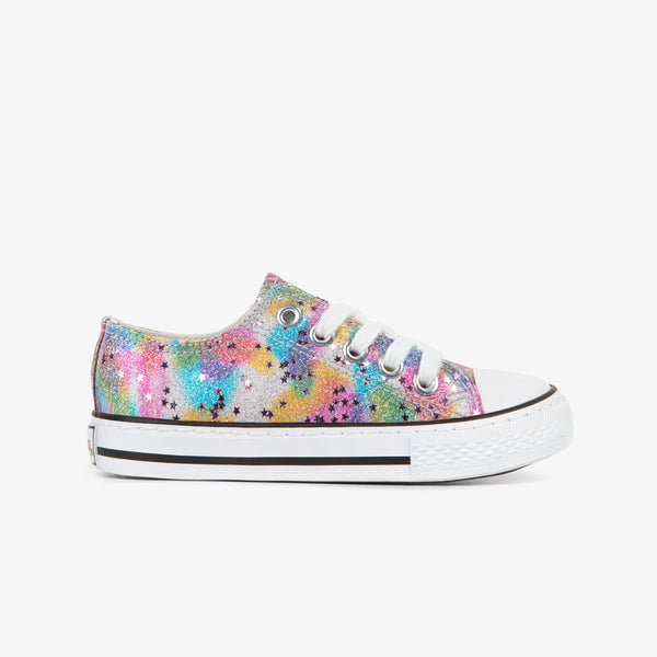 Girl's Glitter Multicolor Sneakers