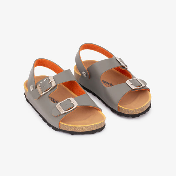 Boy's Khaki Synthetic Bio Sandals