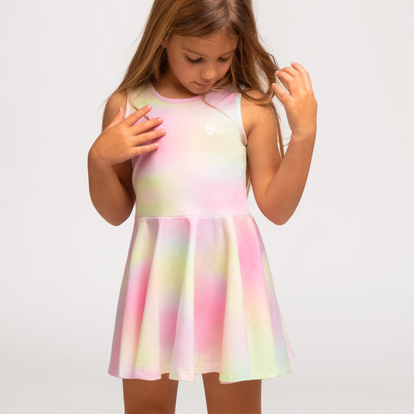 Girl's Multi Tie Dye Skater Dress