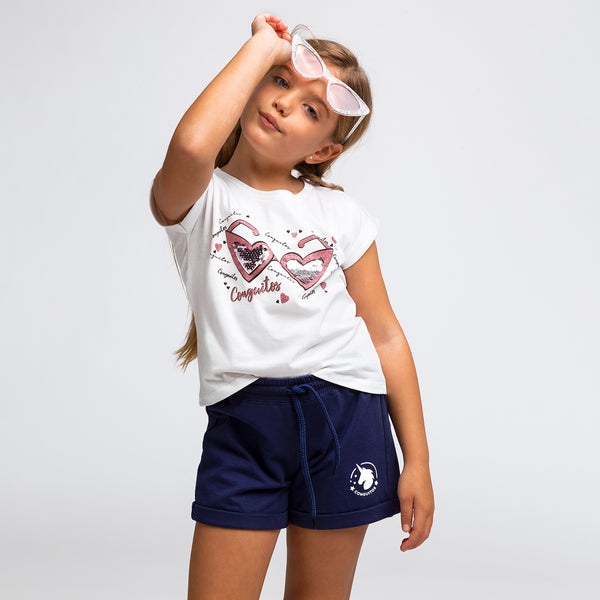 Girl's Navy Running Shorts
