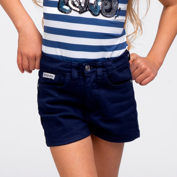 Girl's Navy Shorts