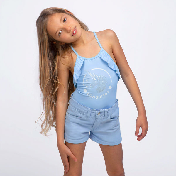 Girl's Light Blue Shorts