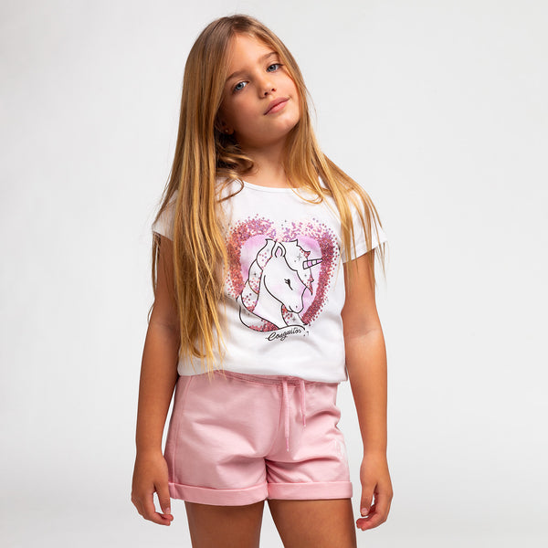 Girl's Unicorn Sequins T-Shirt