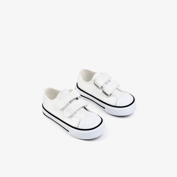 Baby's White Canvas Sneakers