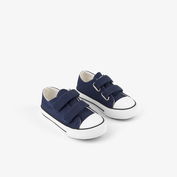 Baby's Navy Canvas Sneakers