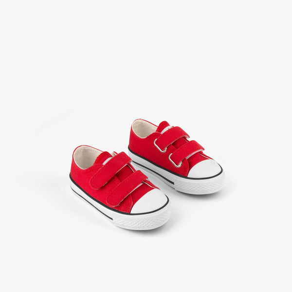 Baby's Red Canvas Sneakers
