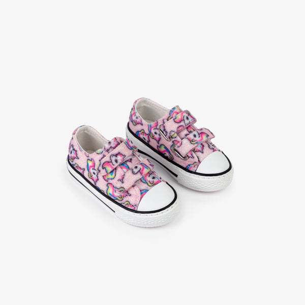Baby's Unicorn Glitter Canvas Sneakers