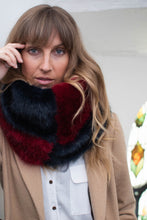 Snood Navy & Red