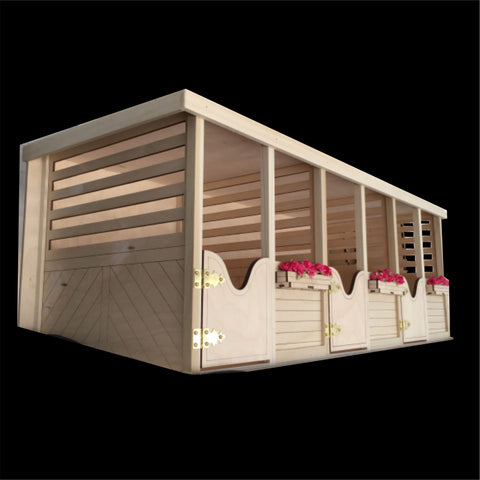 NOTE: Ships February - 3 Box Stall Barn