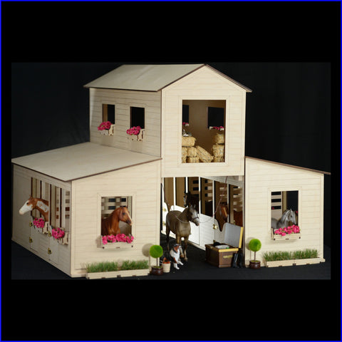 Dream Barn - 3 barns in 1 - with detachable Hay Loft, 5 Box Stalls, and attached Tack Room
