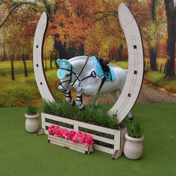 Horseshoe Jump - Great for a Hunter Derby or Cross Country Jump
