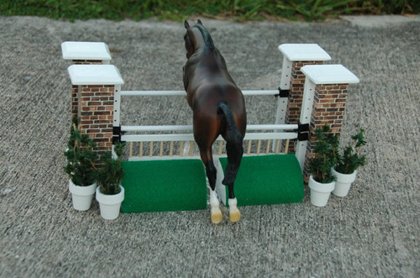 Brick Column Toy Horse Jump