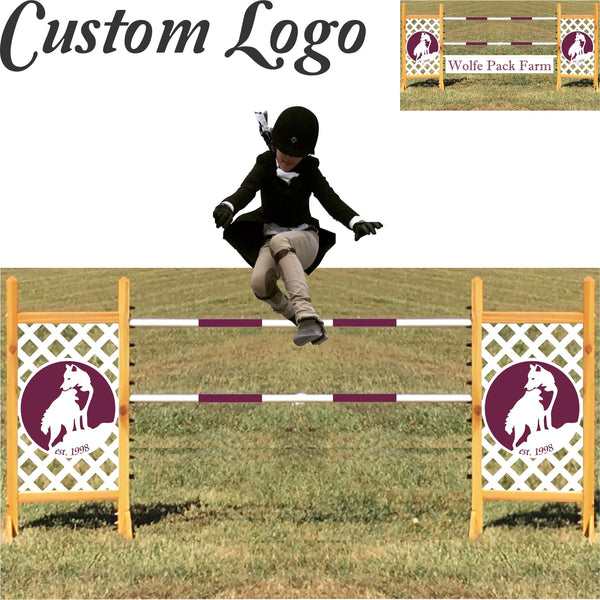 logo custom kid jump