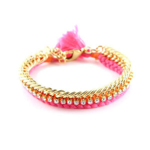Bracelet - Ettika Celebutante Pink and Orange