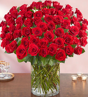 100 Reasons - One Hundred Long Stem Red Roses