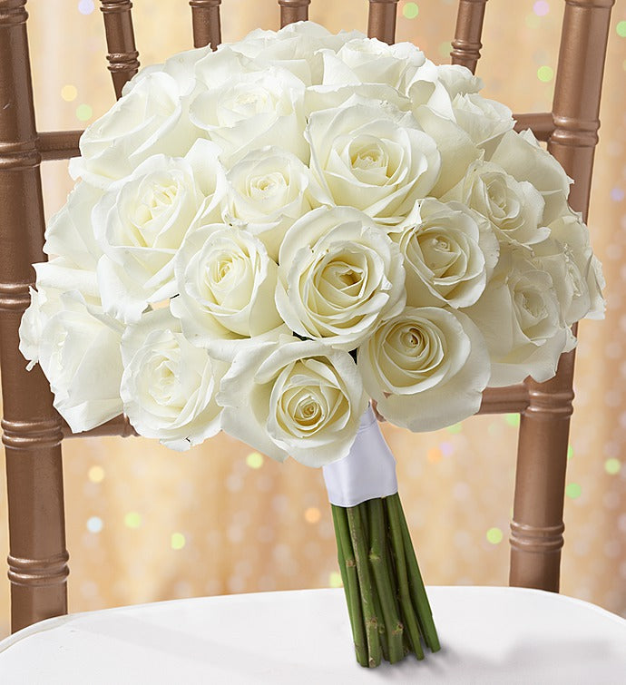 Bridal Bouquet - White Roses