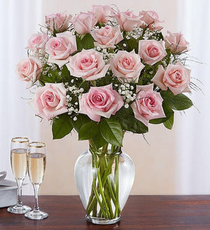 Pretty in Pink - Long Stem Pink Roses