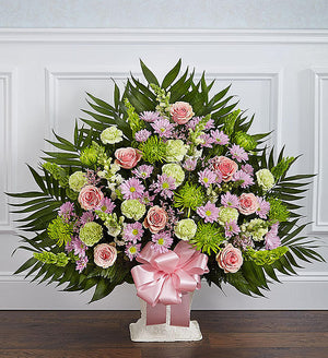 Sincere Remembrance Floor Basket - Pastel