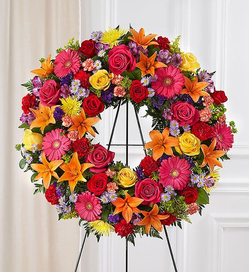 Prayerful Tranquility Standing Wreath - Colorful