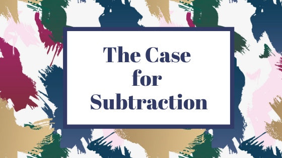 The Case for Subtraction