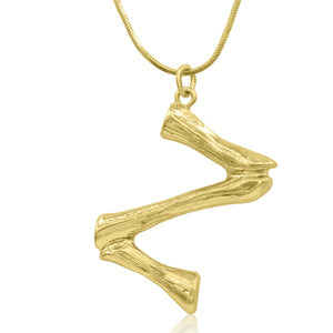 Bamboo Initial Necklace