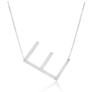 Signature Initial Necklace (Silver)