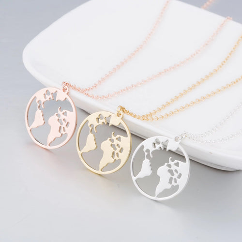 World Traveler Necklace (Gold)