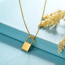 Load image into Gallery viewer, Signature Lock Necklace (Gold)